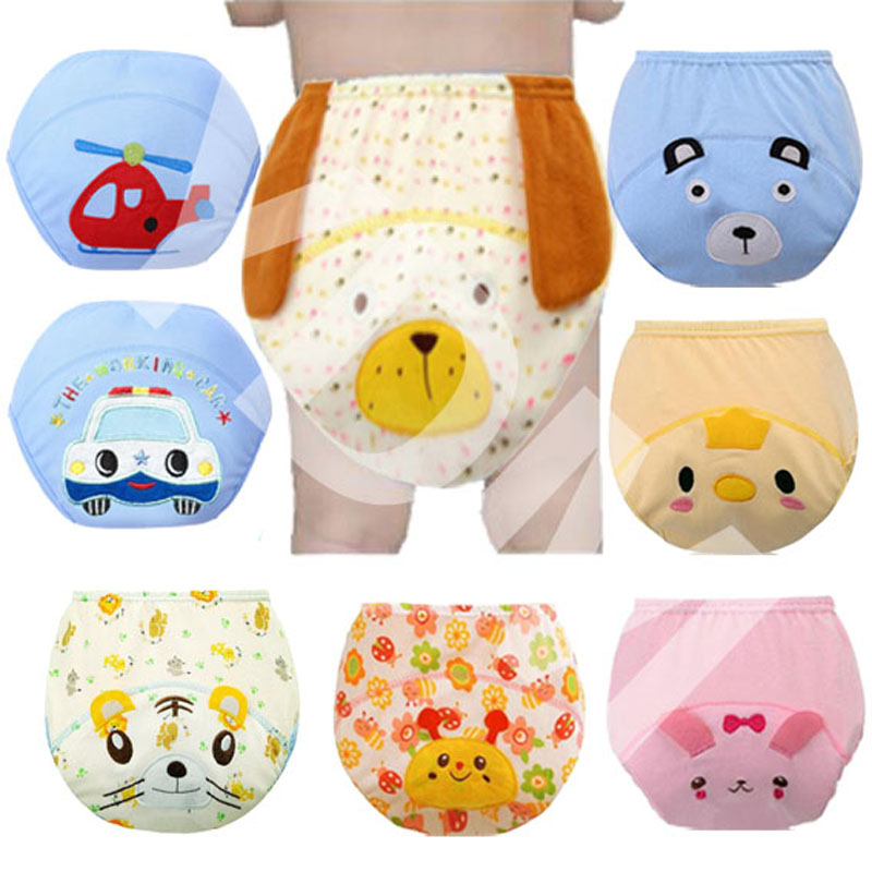 3Pcs Baby Training Pants Panties Diapers Reusable Washable Baby Cloth Diaper Cover Waterproof Cloth Nappy Cotton Diapers