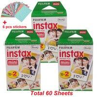 60 Fujifilm Fuji Instax Mini Instant Film White Sheet For 7 7s 8 10 20 25