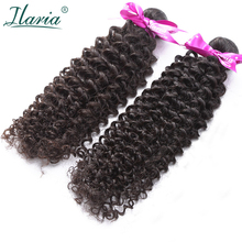ILARIA волосы афро кудрявый вьющиеся перуанских Девы пучки волос 2 шт./лот человеческих волос соткет натуральный цвет волос Ткачество Топ качество