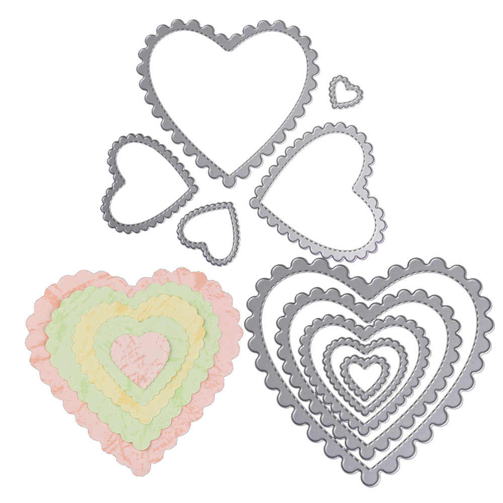 Love Heart Flowers Leaf Circle Square Frame Metal Cutting Dies New 2018 Easter Christmas Stencils  Scrapbooking Paper Cards DIY