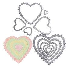 Love Heart Flowers Leaf Circle Square Frame Metal Cutting Dies New 2018 Easter Christmas Stencils Scrapbooking Paper Cards DIY(China)
