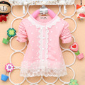 Autumn Baby Girls Dots Lace Floral Pearl Button Cardigan Long Sleeve Coat S-XL