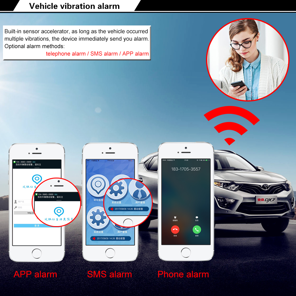 Haoday 9-36v car gps tracker GT06 original provide free APP real time  tracking gps best quality car gps auto tracker google map