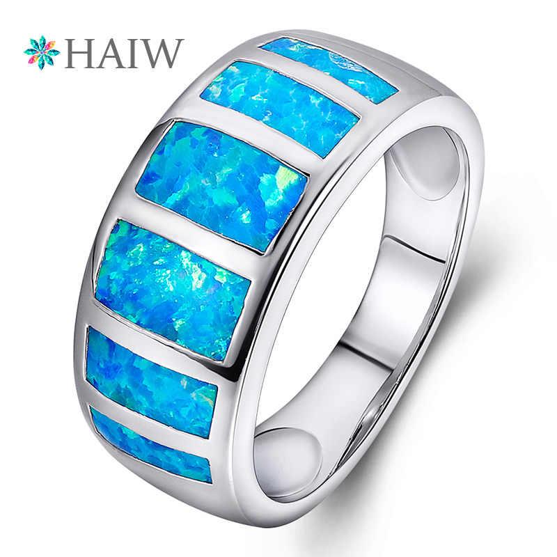 Nouveau shablool BAGUE opale bleue bijoux Argent sterling 925 Femmes Lady