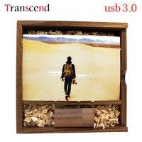 Transcend drewniane usb + box usb3.0 USB flash drive 4 gb 8 gb 16 gb 32 gb 64 GB pen napędy Orzech drewno kreatywny