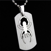 new charms mens stainless steel spide pendant necklaces long round chain sweater necklaces pendants for women fashion jewelry