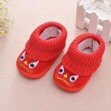 af31d66be2895 Style chinois nouveau-né fille BoyCartoon bottes chaudes espadrilles  décontractées enfant en bas âge chaussures