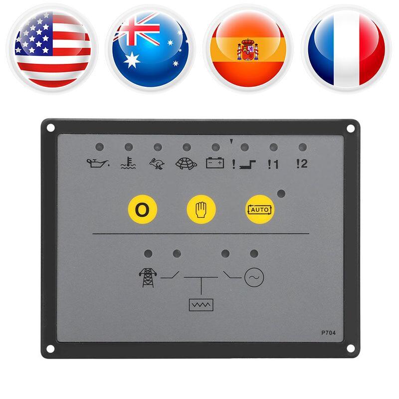 DSE704 Generator Controller Panel Automatic Start Generator Control Module Deep Sea Replacement Diesel Motor Controller Board electronics controller controls module amf unit dse704