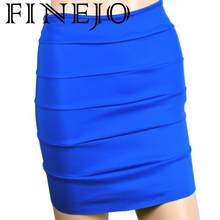 FINEJO Skirt Mini Colors Women Sexy Seven Korea Special Knit Lovely Skirt Candy Bottom(China)