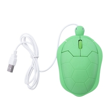 Usb Cable Mouse Cute Animal Wired 3D Optical Computer Pc Mini Turtle Game Green Plastic