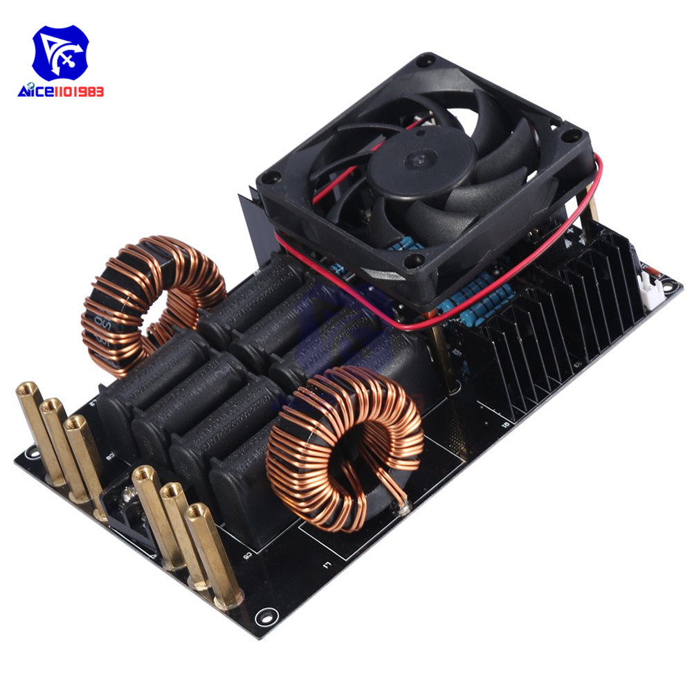DC 12 40V 50A 1000W 1KW ZVS Low Voltage Induction Heating Machine Board Module High Frequency 1000W High Voltage Generator