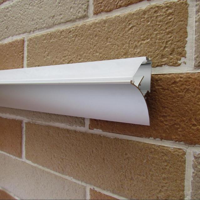 Бесплатная доставка Млечный/прозрачная крышка настенный анодированный Экструзии алюминиевый светодио дный освещения профиль для полосы 2 ...