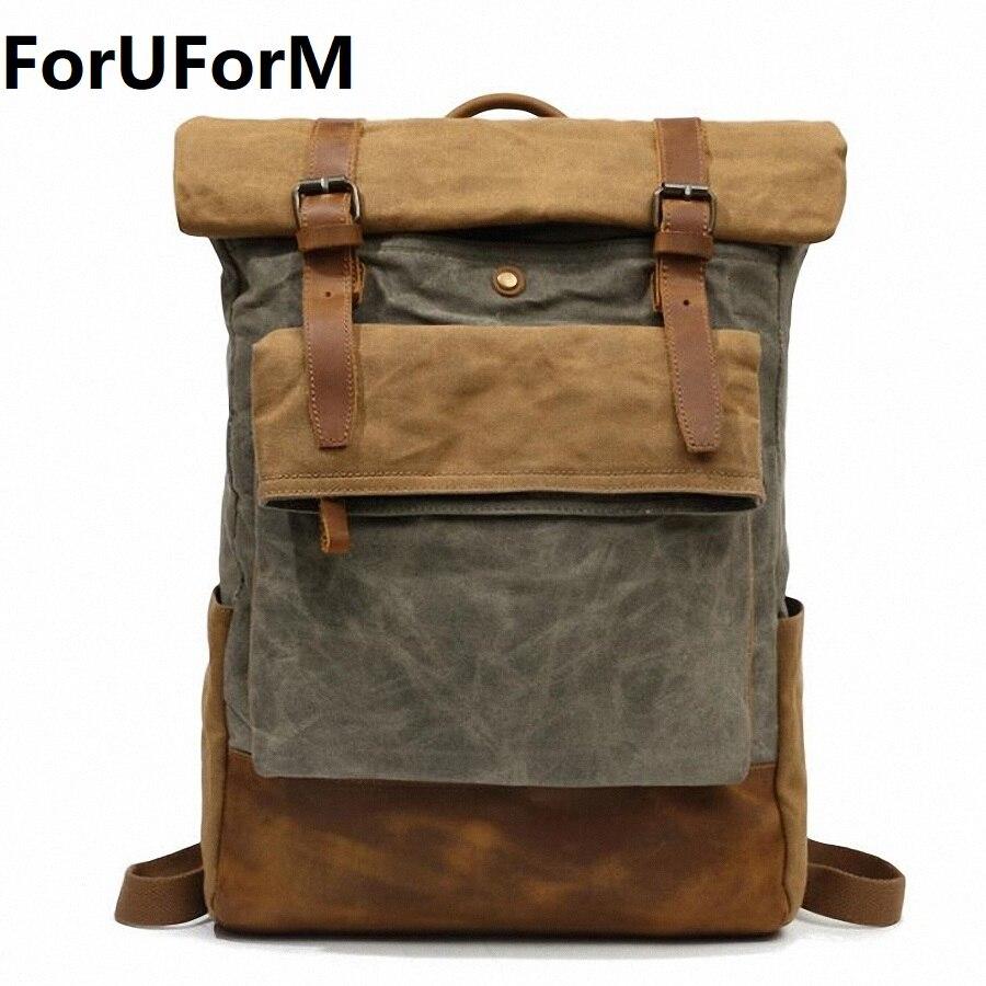 Backpack Canvas Travel Bag Backpacks Fashion Men Waterproof Designer Student Bag Male Laptop Bags High Capacity Backpack LI-2127 anime death note cosplay anime backpack male and female student bag travel backpack