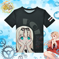 Anime Kantai Collection Yudachi T-shirt Kancolle Polyester T Shirt Summer Active Otaku Men Women Tees