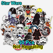 55 st Fashion Star Sticker för Laptop Bagageväskor Handväska Cool Cartoon Man DIY Wars Man Stickers Doodle PVC Creative Decal Toy
