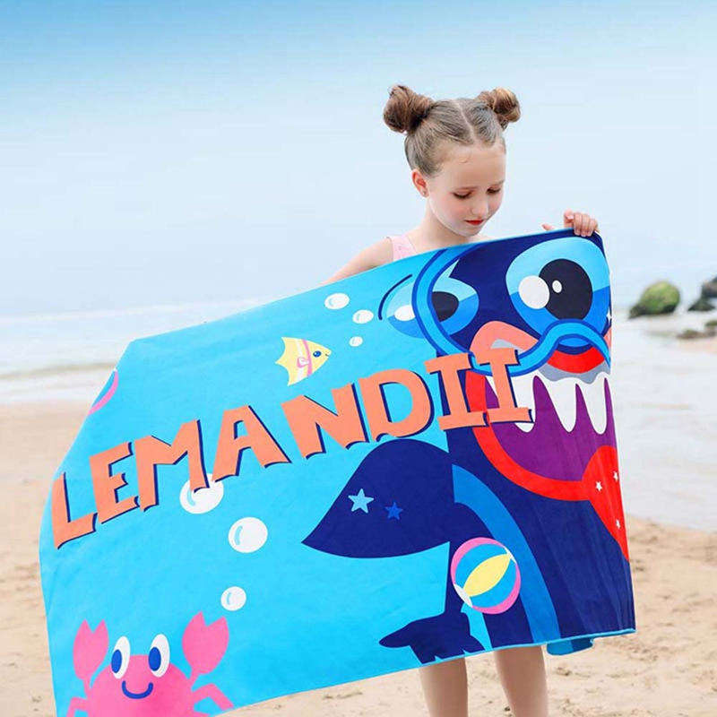 Swim de Natação dos Desenhos Toalha de Banho Toalha de Secagem Absorvente de Água Crianças Novidades Leve Sombrinha Animados Impresso Rápida Toalha