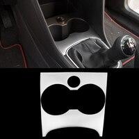 Car Styling Acciaio Inox Console sigaretta paillettes Interior Chrome Trim Decorazione Per VW POLO Accessori Decorazione Paillettes