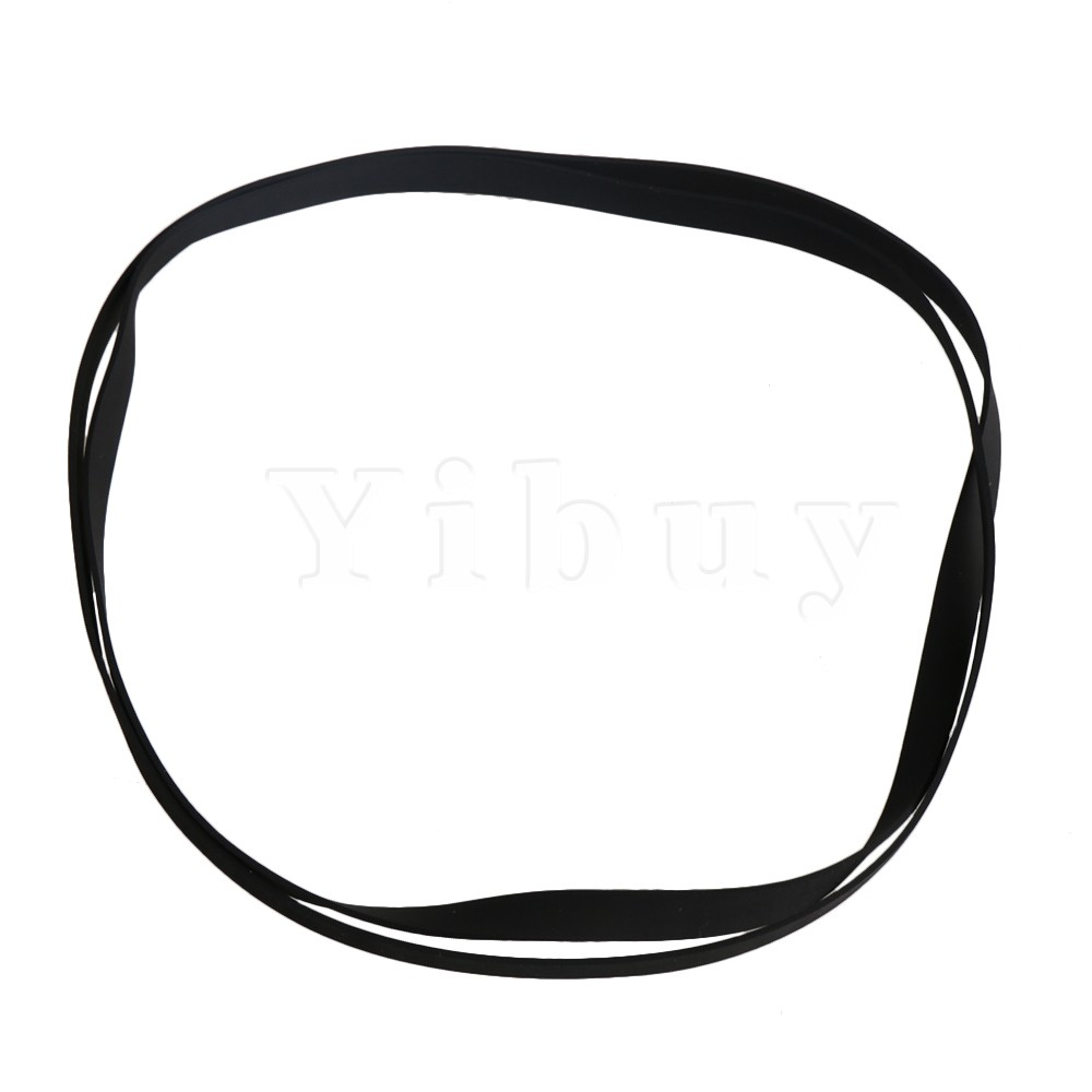 2x Yibuy Thickness 2mm Black Rubber Square Turntable Record Player Belt for Gramophone Recorder Player( Perimeter 296-650mm)