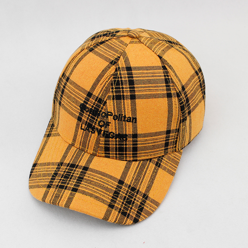 0910aded055 Las Vegas Plaid Baseball Cap Fashion Men Women Casual Outdoor Dad Hats  Men s Hat Justin Bieber Hip Hop Caps Bones Snapback Hats-in Baseball Caps  from ...