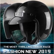 open helmet Carbon fiber helmets retro helmet Motorcycle moto vintage casque jet scooter helmet motorhelm capacete moto недорого