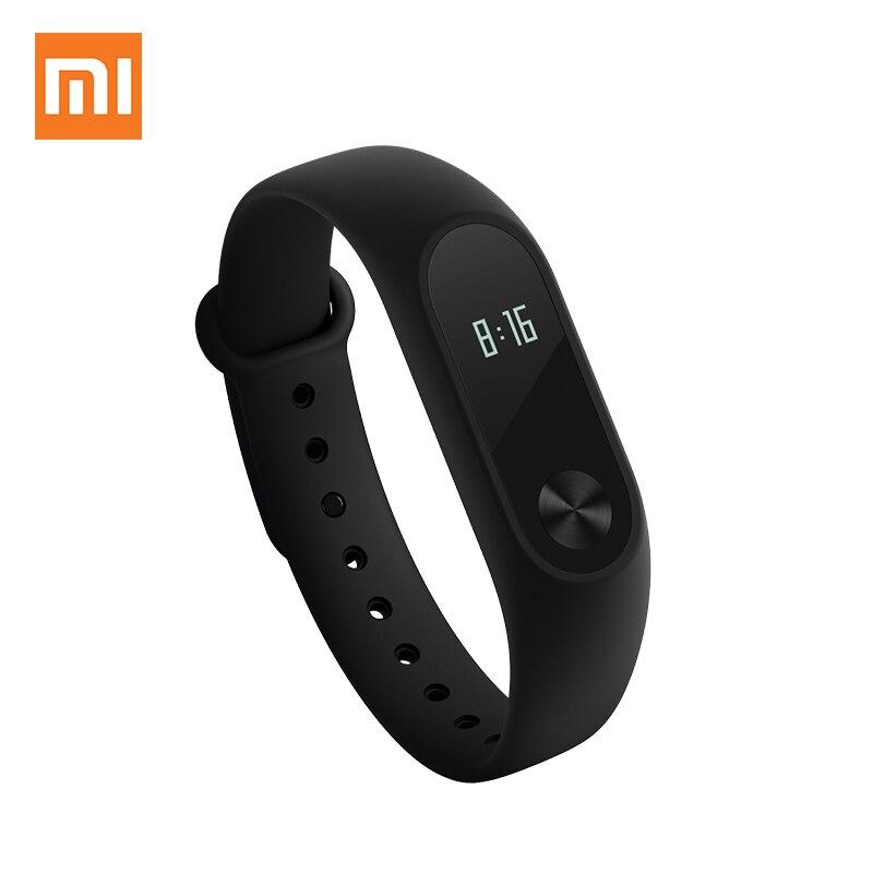 imágenes para Xiaomi mi banda 2 heart rate monitor inteligente pulsera pulsera oled pantalla touch pad impermeable ip67 inteligente rastreador de ejercicios