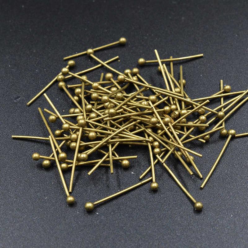 Fltmrh 100 Pcs 16X0.5 Mm Testa Della Sfera Spille Rame Oro Borda I Risultati Dei Monili Accessori Dei Monili per I Monili di Diy