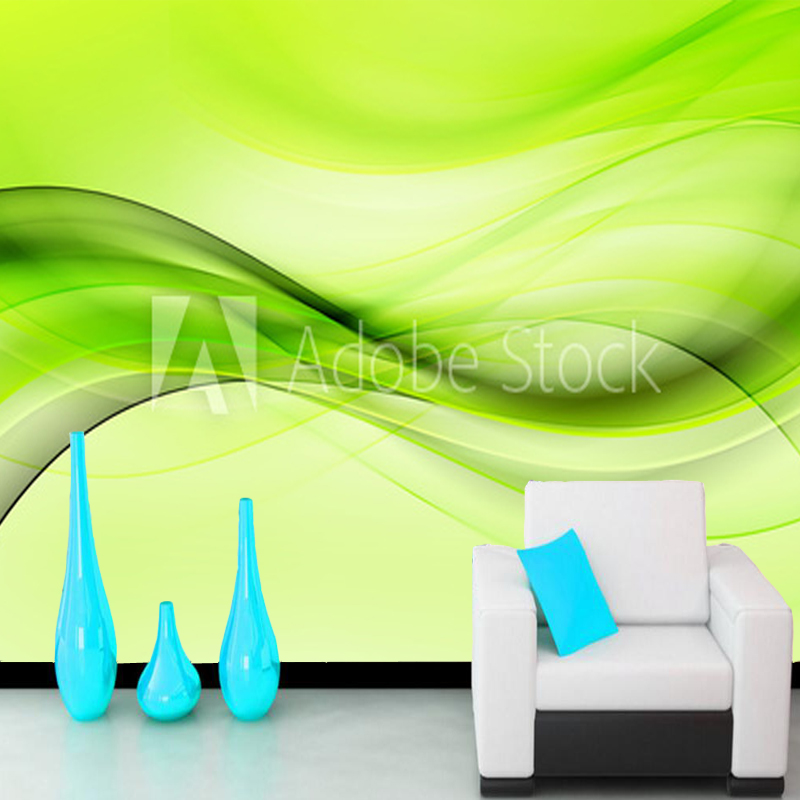 Abstract Wallpaper,Green Wave Design Abstract Background