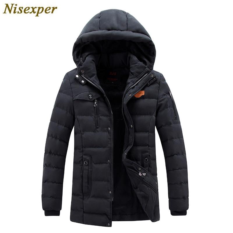 Men Parkas Jacket 2018 Warm Mens Winter Coat Man's Jacket Hood Quilted Wadded Padded Waistcoat Mens Jackets
