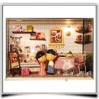 T003 DIY Миниатюрный торт магазин кукольный домик Милая торт (с куклами) Кукольный домик деревянный магазин Кукольный дом