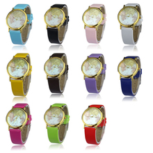 SmileOMG Womens Retro World Map Design Leather Alloy Band Analog Quartz Wrist Watch,Aug 18