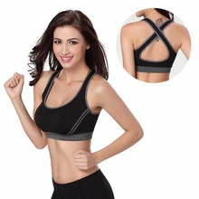 1 PC Women Padded Top Athletic Vest Gym Fitness Sports Bra Stretch Cotton Seamless Multicolors Free