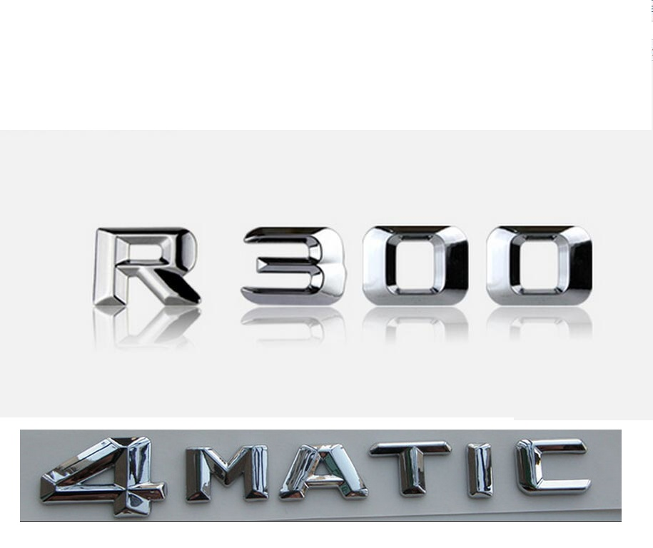 Chrome Metal R Sport Car Trunk Rear Tailgate Emblem Badge Decal Sticker Type