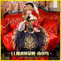 Anime Love Live! Minami Kotori Magician School Idol Project Awaken Uniforms Cos Cosplay Costume Dress+hat+bustle