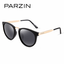 Parzin бренд поляризованные Для женщин Солнцезащитные очки классический ретро большой металлической Рамка Мода вождения Очки щит против UV400 качество 9297