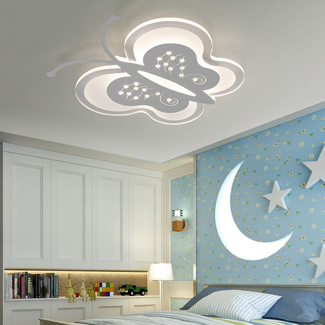 Simple Modern Children S Bed Room Led Acrylic Erfly Ceiling Light Bedroom Baby Personality Kindergarten