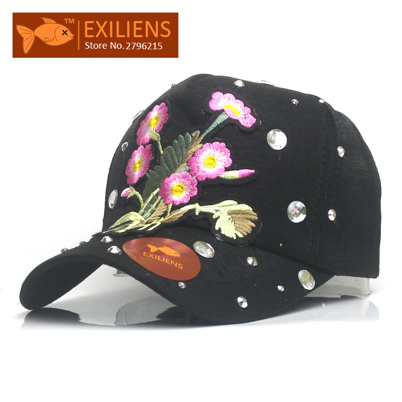 [EXILIENS] 2017 New Fashion Brand Cotton Flower Top Snapback Caps Strapback Baseball Cap Bboy Hip-hop Hat For Men Women Fitted 2016 new new embroidered hold onto your friends casquette polos baseball cap strapback black white pink for men women cap