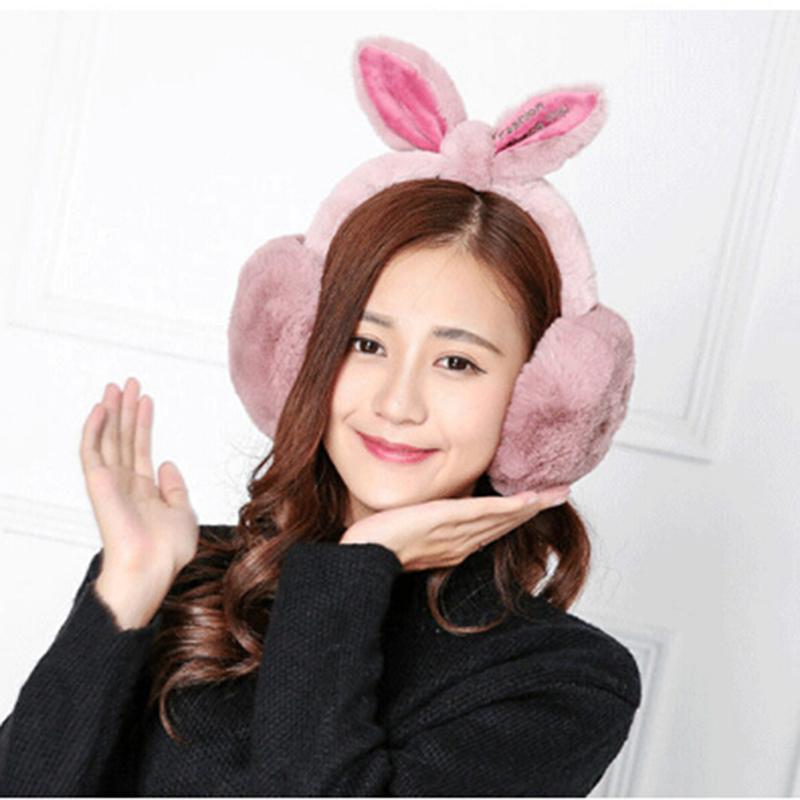 New Cute Rabbit Ear Earmuffs Women Winter Warm Earmuffs Heigh Quality Hort Sale Comfort Ear Warmers Gifts Cover Ears Earmuffs