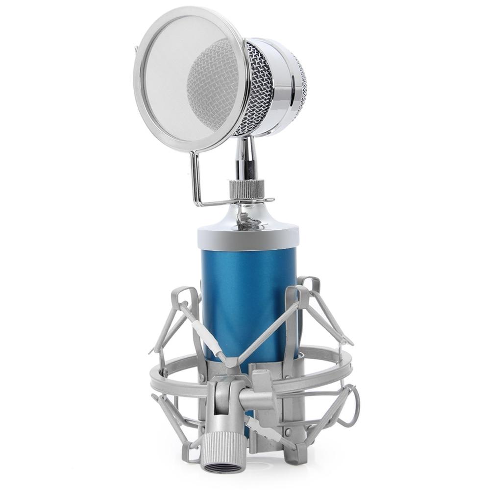 BM 8000 Professional Sound Studio Recording Condenser Microphone with 3 5mm Plug Stand Holder