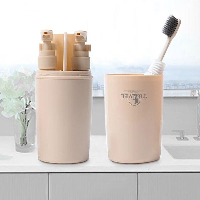 4 sztuk/zestaw łazienka garnitur kubek na szczoteczki do zębów uchwyt mydelniczka dozownik szczotka do włosów zestaw podróżny akcesoria do kąpieli