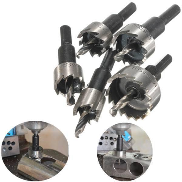 цена на 2 Sets Lot 5pcs Hole Saw Tooth Hss Cutter Drill Bit 16/18 5/20 25/30 Mm Drill Bit Set 18 Forstner Drill Bits Drill Bit