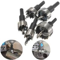 2 Sets Lot 5pcs Hole Saw Tooth HSS Hole Saw Cutter Drill Bit Set 16 18
