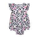 2016 Summer Fashion Leopard-Print Bodysuit Do Bebê 100% Algodão Infantil Macacões Macacões Crianças Bodysuits da Menina Da Criança Roupas