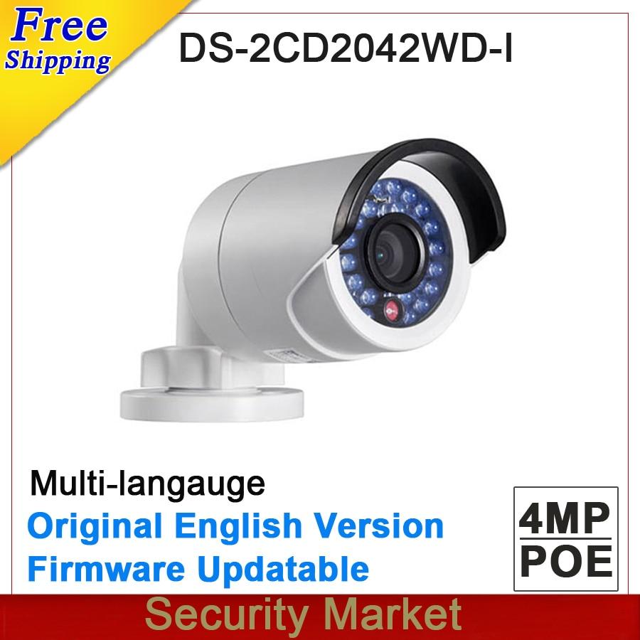 imágenes para Versión Original en Inglés DS-2CD2042WD-I 4MP Reemplazar DS-2CD2035-I DS-2CD2032F-I DS-2CD2032-I CCTV IP POE bala cámara