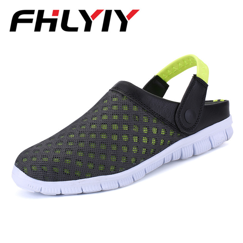 Unisex Sandals Men Hollow Sandals Casual Slippers Shoes Outdoor Beach Breathable Sandals Mens Flats Sandalias Zapatos Flip