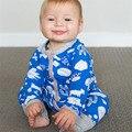 Nuevo Otoño Moda Mamelucos Del Bebé 100% Algodón para niños ropa Del Muchacho de Manga Larga monos de los Bebés Recién Nacidos Bebes Roupas 0-2 Años
