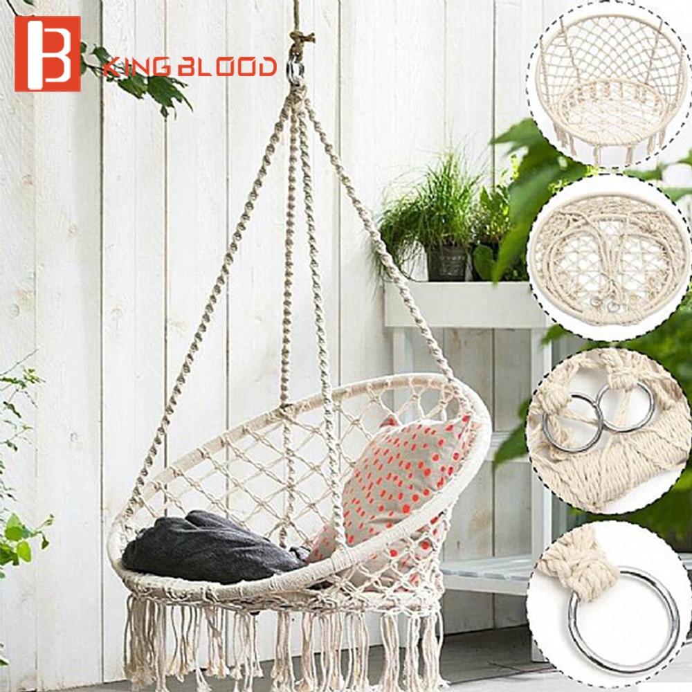 Chaise pivotante extérieure suspendue meubles hamac ronds