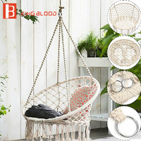 Outdoor Swing Chair Hanging Round Hammock Furniture