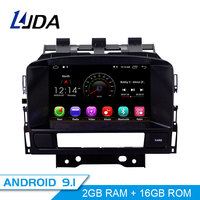 LJDA 2 Din 7 Inch Android 9.1 Car DVD Player For OPEL ASTRA J 2010 2012 GPS Navigation Autoaudio 2G RAM WiFi Radio Multimedia