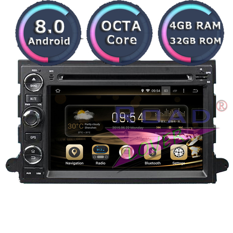 Roadlover Android 8.0 Car PC DVD Player For <font><b>Ford</b></font> Fusion Explorer Focus Edge Expedition Mustang F500 <font><b>Escape</b></font> Stereo <font><b>GPS</b></font> Navigation image
