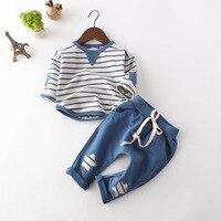 Kids Clothing Sets Infant Clothes Children Spring Boys Girls Clothing Set Striped Toddler 2pcs Star Clothes
